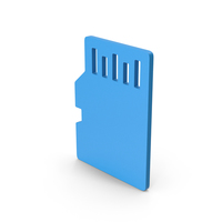 Symbol SD Card Blue PNG & PSD Images