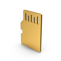 Symbol SD Card Gold PNG & PSD Images