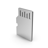 Symbol SD Card Silver PNG & PSD Images