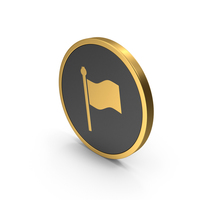 Gold Icon Flag PNG & PSD Images