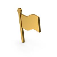 Symbol Flag Gold PNG & PSD Images