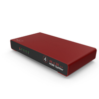 HDMI Splitter Red PNG & PSD Images