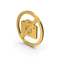Symbol No Photography Gold PNG & PSD Images