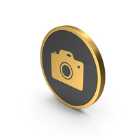 Gold Icon Photo Camera PNG & PSD Images