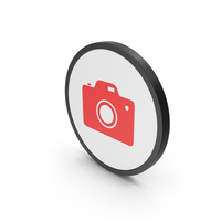 Icon Photo Camera Red PNG & PSD Images