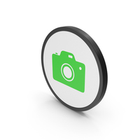 Icon Photo Camera Green PNG & PSD Images