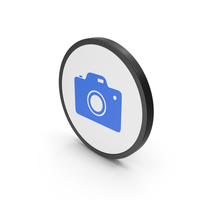 Icon Photo Camera Blue PNG & PSD Images
