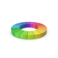 Rainbow Pie Chart PNG & PSD Images