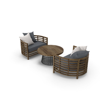 Outdoor Armchairs with Table PNG & PSD Images