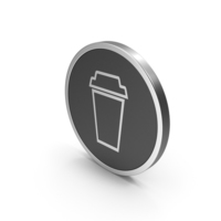 Silver Icon To Go Coffee Cup PNG & PSD Images