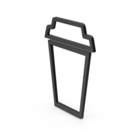 Symbol To Go Coffee Cup Black PNG & PSD Images