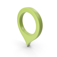 Location Sign Light Green PNG & PSD Images