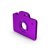 Symbol Camera Purple Metallic PNG & PSD Images