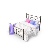 Dark Bronze Victorian Bed PNG & PSD Images