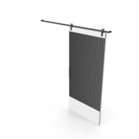 Sliding Door Dark Gray and White PNG & PSD Images