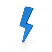 Symbol Storm Blue Metallic PNG & PSD Images