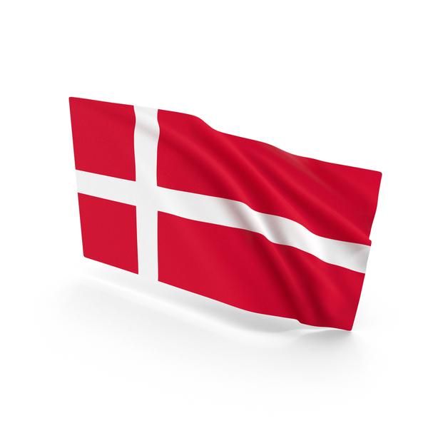 Denmark Waving Flag PNG & PSD Images