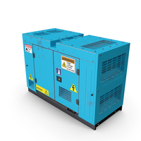 Power Generator Blue Used PNG & PSD Images