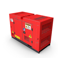 Power Generator Red Used PNG & PSD Images
