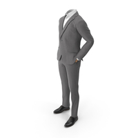 Hands in Pockets Suit Grey PNG & PSD Images
