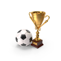 Soccer Cup And Ball PNG & PSD Images