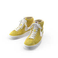 Nike Mid Blazer Yellow PNG & PSD Images