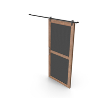 Sliding Door Wood and Gray PNG & PSD Images