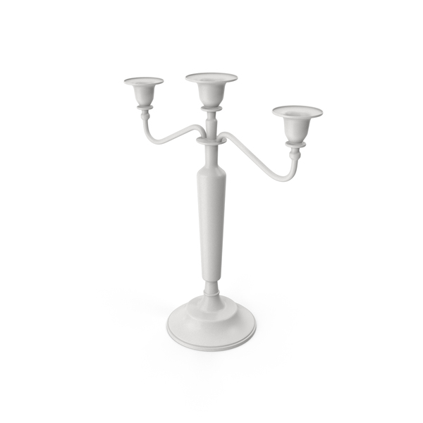 Candle Holder White PNG & PSD Images
