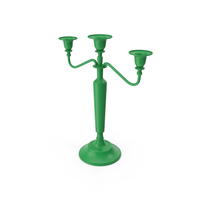 Candle Holder Green PNG & PSD Images