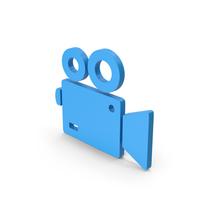 Symbol Video Camera Blue PNG & PSD Images