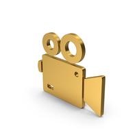 Symbol Video Camera Gold PNG & PSD Images