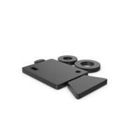 Black Symbol Video Camera PNG & PSD Images