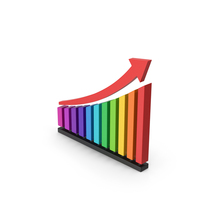 Symbol Chart With Arrow Colored PNG & PSD Images