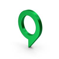 Symbol Map Pin Green Metallic PNG & PSD Images