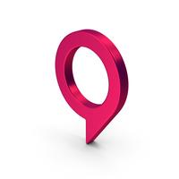 Map Pin Pink Metallic PNG & PSD Images