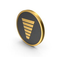 Gold Icon Funnel Chart PNG & PSD Images