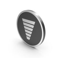 Silver Icon Funnel Chart PNG & PSD Images