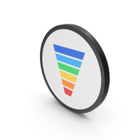 Icon Funnel Chart Colored PNG & PSD Images