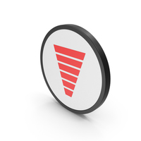 Icon Funnel Chart Red PNG & PSD Images