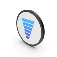 Icon Funnel Chart Blue PNG & PSD Images