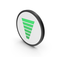 Icon Funnel Chart Green PNG & PSD Images