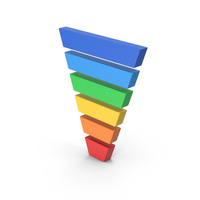 Symbol Funnel Chart Colored PNG & PSD Images