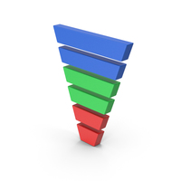 Symbol Funnel Chart Colored 3 PNG & PSD Images