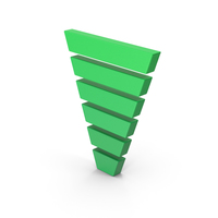 Symbol Funnel Chart Green PNG & PSD Images