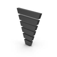 Symbol Funnel Chart Black PNG & PSD Images
