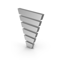 Symbol Funnel Chart Silver PNG & PSD Images