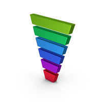 Symbol Funnel Chart Metallic PNG & PSD Images