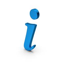 Symbol Info Blue Metallic PNG & PSD Images