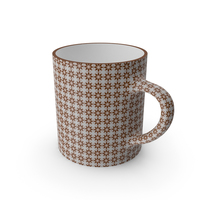 Printed Brown Flower Cup PNG & PSD Images