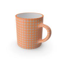 Printed Orange Flower Cup PNG & PSD Images